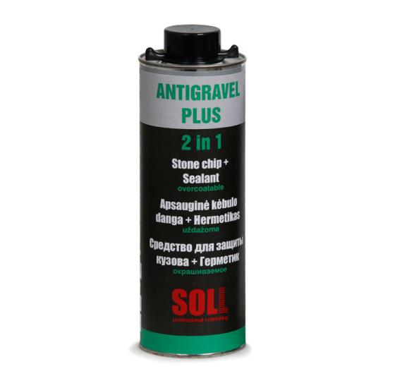 SOLL ANTIGRAVEL PLUS окрашиваемое средство для защиты кузова и герметик в одном 1 л