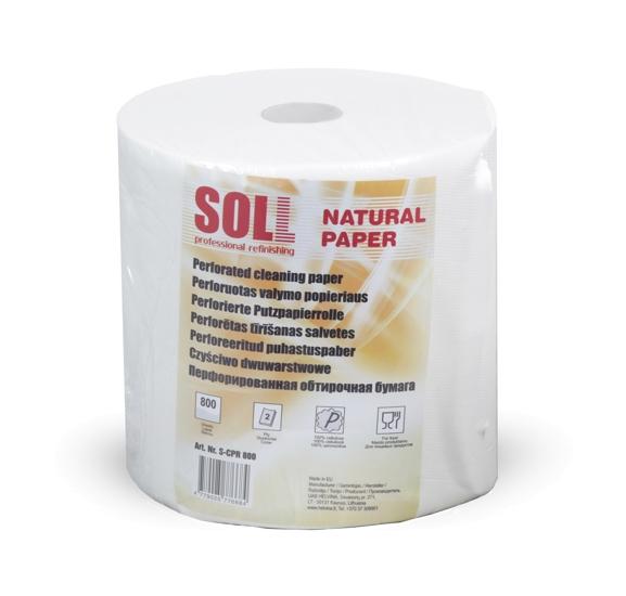 SOLL двухслойные салфетки для очистки в рулоне